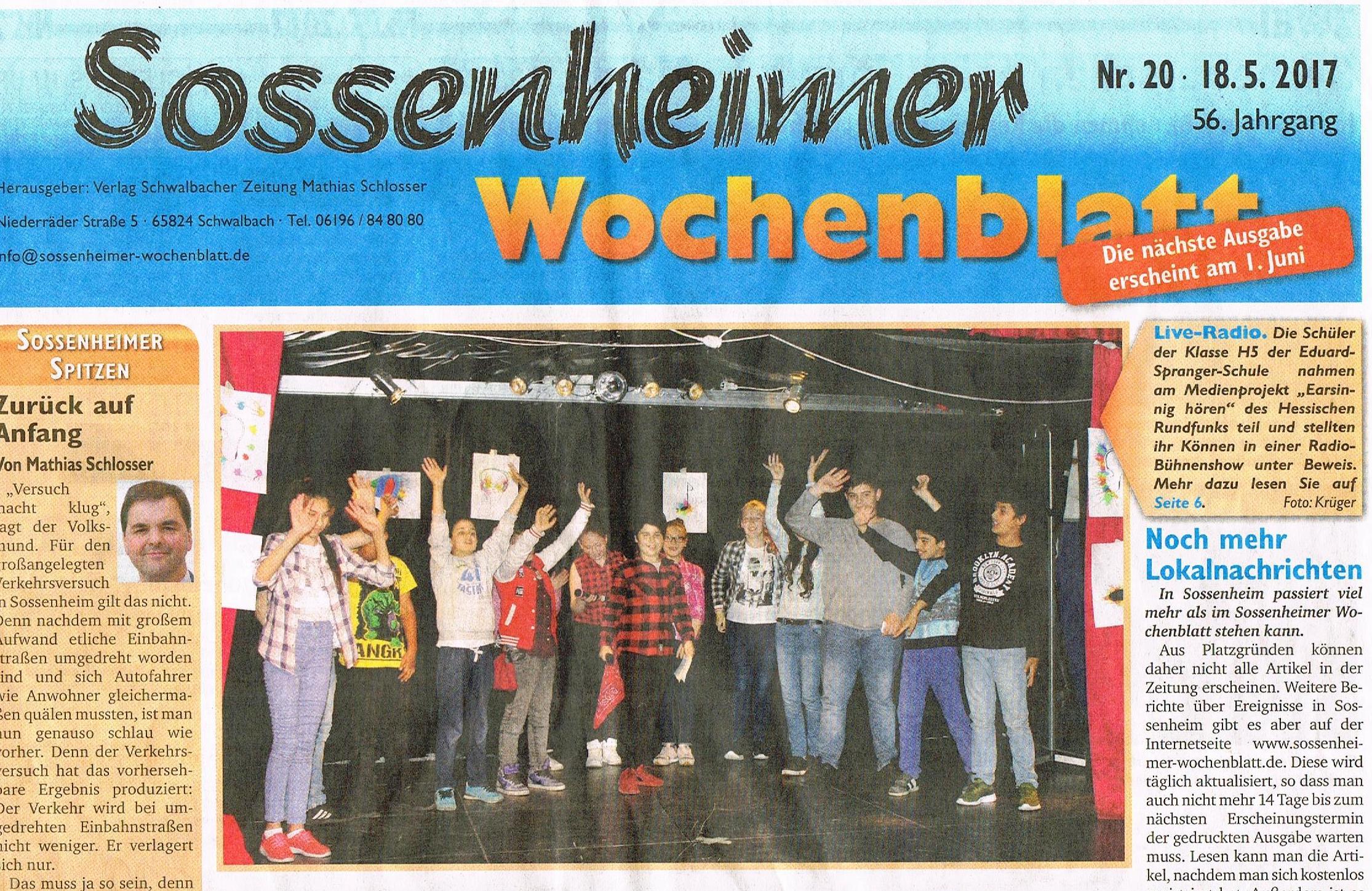 Sossenheimer Wochenblatt vom 18.05.2017 Teil 1