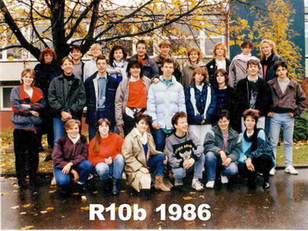 1986 Klasse R10b & Frau Mueller